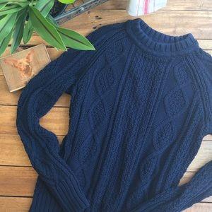J. Crew Navy Fisherman's Sweater (M)